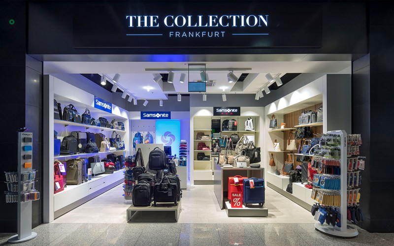 "Münch+Münch Projekt Samsonite Flughafen Frankfurt - Totale ""The Collection"" Store"